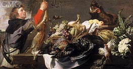 Still life with Huntsman, c.1615 by Frans Snyders | Painting Reproduction