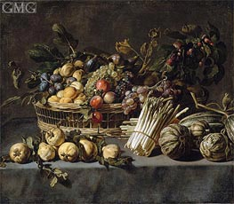 Vegetables and a Basket of Fruit on a Table | Frans Snyders | Painting Reproduction
