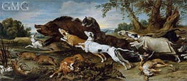 Boar Hunt | Frans Snyders | Painting Reproduction