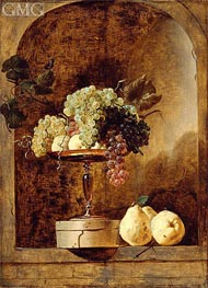 Grapes, Peaches and Quinces in a Niche, Undated by Frans Snyders | Painting Reproduction