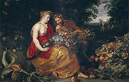 Ceres and Pan, c.1615 by Frans Snyders | Painting Reproduction