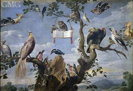 Concert of the Birds, c.1629/30 by Frans Snyders | Painting Reproduction