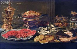 Still Life with a Lobster, Undated by Frans Snyders | Painting Reproduction
