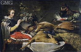 Pantry Scene with a Page, c.1612 by Frans Snyders | Painting Reproduction