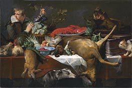 Pantry Scene with Servant, c.1615/20 by Frans Snyders | Painting Reproduction