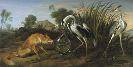 Sable of the Fox and the Heron | Frans Snyders | Painting Reproduction