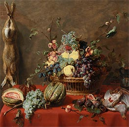 Still Life with Fruit and a Dead Hare, 1630s by Frans Snyders | Painting Reproduction