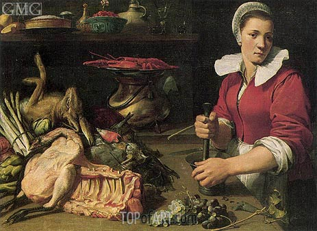 Cook with Food, c.1630/40   Frans Snyders   Painting Reproduction
