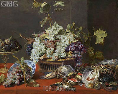 Still Life with Grapes and Game, c.1630 | Frans Snyders | Painting Reproduction