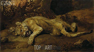The Lioness, Undated | Frans Snyders | Painting Reproduction