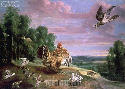 The Hawk and the Hen, Undated | Frans Snyders | Gemälde Reproduktion