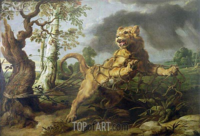 The Lion and the Mouse, Undated | Frans Snyders | Painting Reproduction