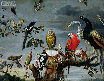 Concert of Birds, Undated | Frans Snyders | Gemälde Reproduktion