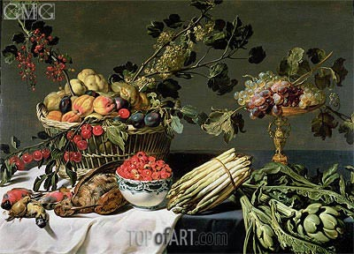 Still Life of Fruit in a Wicker Basket, Undated | Frans Snyders | Painting Reproduction