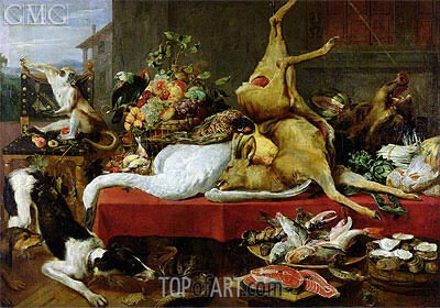 Still Life with a Red Deer, 1640 | Frans Snyders | Painting Reproduction