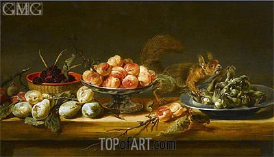 Still Life with Squirrel, Undated | Frans Snyders | Painting Reproduction