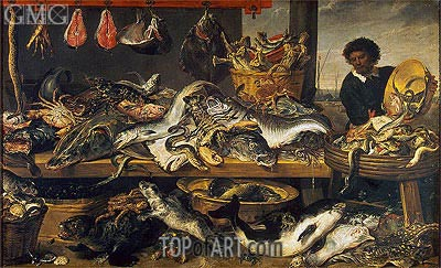 Fish Market, c.1620   Frans Snyders   Painting Reproduction