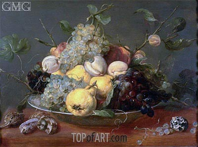 Still Life with Fruit in a Porcelain Bowl, Undated | Frans Snyders | Painting Reproduction