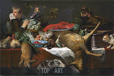 Pantry Scene with Servant, c.1615/20 | Frans Snyders | Painting Reproduction