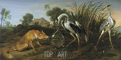 Sable of the Fox and the Heron, Undated | Frans Snyders | Painting Reproduction