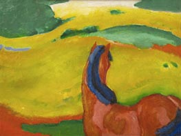Horse in a Landscape, 1910 by Franz Marc | Painting Reproduction
