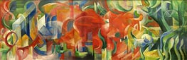 Playing Forms, 1914 by Franz Marc | Painting Reproduction