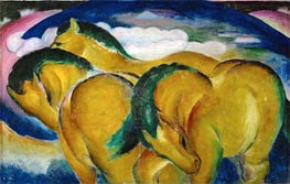 The Small Yellow Horses, 1912 by Franz Marc | Painting Reproduction