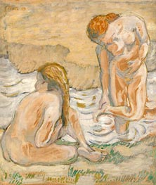 Two Bathing Women (Act Composition II), 1909 by Franz Marc | Painting Reproduction