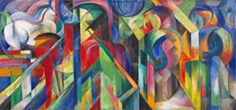 Stables, 1913 by Franz Marc | Painting Reproduction