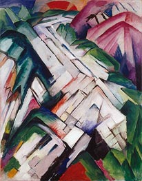 Mountains (Landscape), 1911/12 by Franz Marc | Painting Reproduction