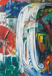 The Bewitched Mill, 1913 by Franz Marc | Painting Reproduction