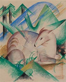 Red Deer | Franz Marc | Painting Reproduction
