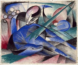 Dreaming Horse | Franz Marc | Painting Reproduction