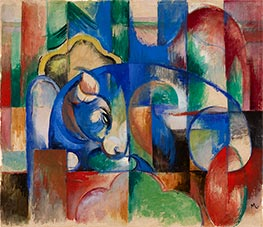 Lying Bull, 1913 by Franz Marc | Painting Reproduction