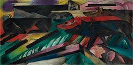 The Wolves (Balkan War), 1913 by Franz Marc | Painting Reproduction