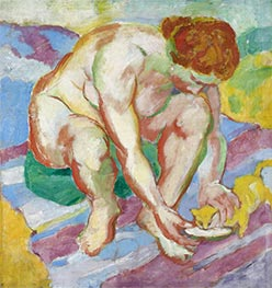 Nude with Cat, 1910 by Franz Marc | Painting Reproduction