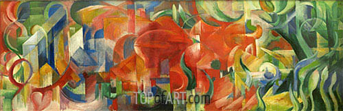 Playing Forms, 1914 | Franz Marc | Painting Reproduction