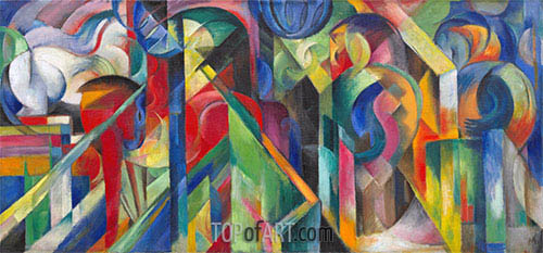 Stables, 1913 | Franz Marc | Painting Reproduction