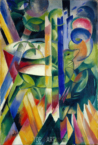 The Little Mountain Goats, 1913/14 | Franz Marc | Painting Reproduction