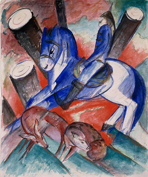St. Julian the Hospitaler, 1913 | Franz Marc | Painting Reproduction