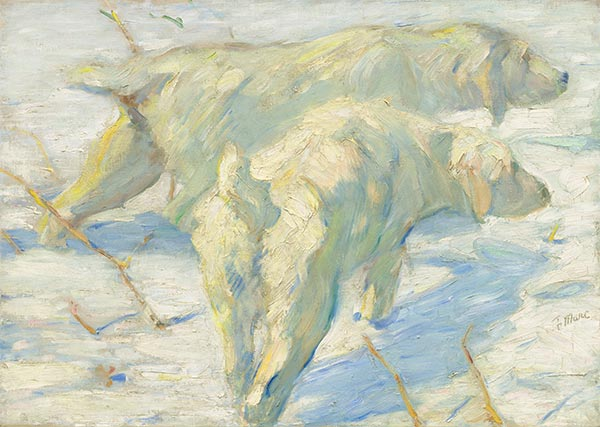Siberian Dogs in the Snow, c.1909/10   Franz Marc   Painting Reproduction