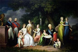 Paul I, Maria Feodorovna and their Children, c.1800 by Franz Gerhard von Kugelgen | Painting Reproduction