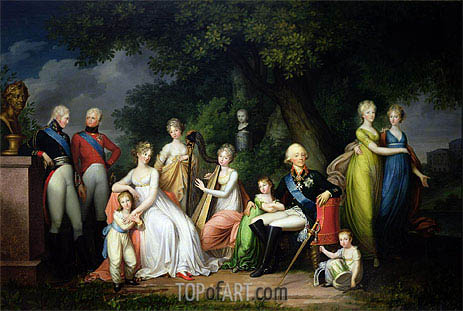 Paul I, Maria Feodorovna and their Children, c.1800 | Franz Gerhard von Kugelgen | Gemälde Reproduktion