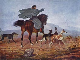 Ausritt zur Jagd, 1819 by Franz Kruger | Painting Reproduction