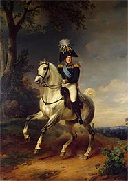 Equestrian Portrait of Alexander I, 1837 by Franz Kruger | Painting Reproduction