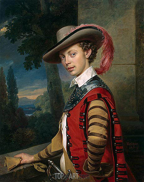 Portrait of Prince Nikolai Saltykov, 1850 | Franz Kruger | Painting Reproduction