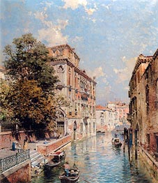 A View in Venice, Rio S. Marina, undated by Unterberger | Painting Reproduction