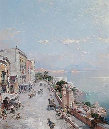 Posilipo, Naples, undated by Unterberger | Painting Reproduction