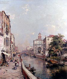 Rio St. Geronimo, Venice, undated by Unterberger | Painting Reproduction