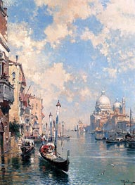 The Grand Canal, Venice, undated by Unterberger | Painting Reproduction
